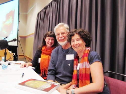 From left to right: Kelly Clarke, Charles Heying and I on a panel about food and craft at last year's 2010 Wordstock. Looking forward to being on a panel this year too -- Saturday's Every Book is a Start-up.