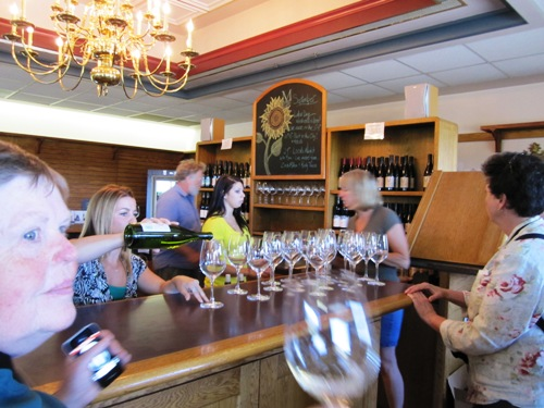 It wouldn't be a wine tour without a tasting in Montinore Estate's beautiful tasting room.