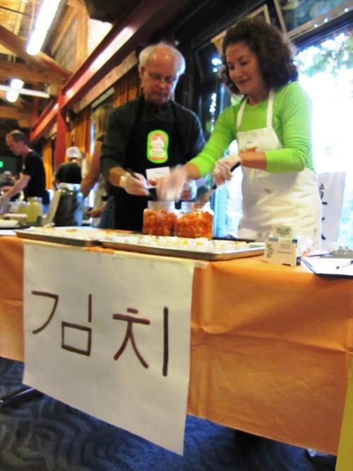 Anna Stulz with more fiery good kimchi.