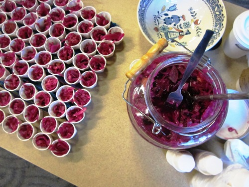 Erica Fayrie's as good as it looks sauerkraut with beets.