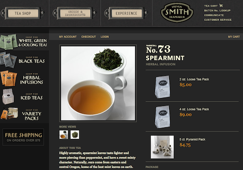 If you aren't in the Portland area or visiting anytime soon you can buy Steven Smith Tea online here.