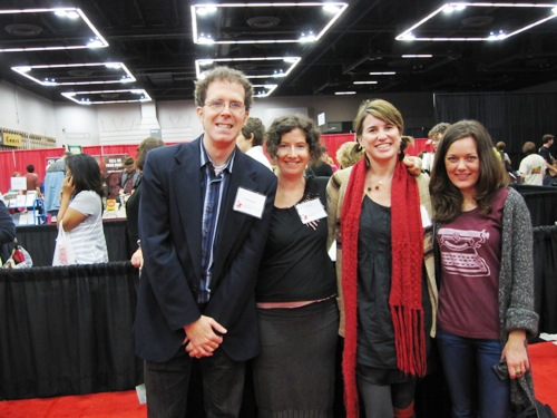 Todd Sattersten, me, Kelley Roy and Jen Stevenson after our panel at Wordstock 2011.