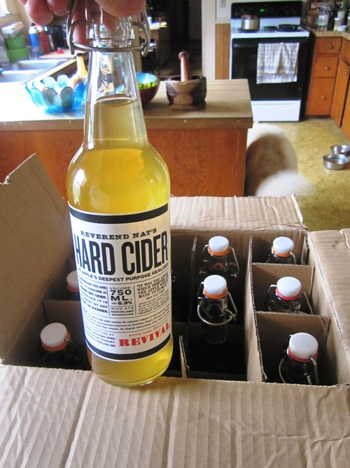 Our friend Nat West dropped off a case of his super tasty hard cider that's now available in all sorts of restaurants and bars around town. Go Nat!