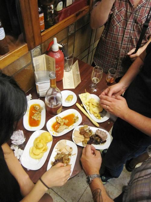 Tapas at Quimet Quimet in Barcelona for the Toro Bravo Cookbook, fall 2013 McSweeney's.