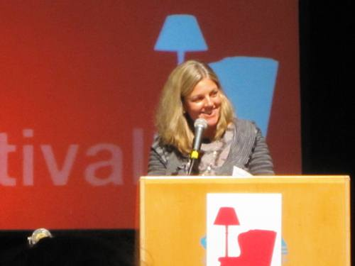 Our literary agent, Kimberly Witherspoon, of InkWell Management moderating a panel at Wordstock 2012.