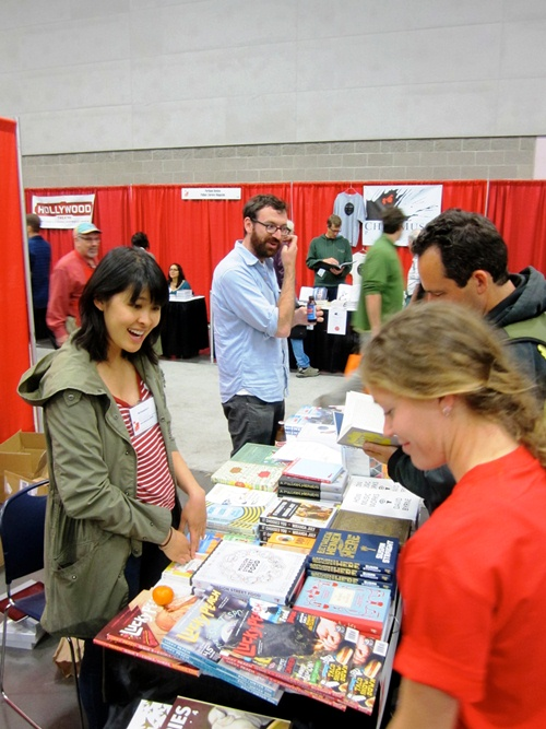 Rachel Khong and Jordan Bass of McSweeney's Books at Wordstock 2012.