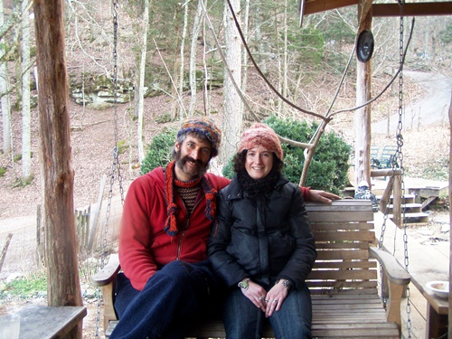 Sandor Ellix Katz and me at Short Mountain Sanctuary, a couple hours south of Nashville, in January 2009.