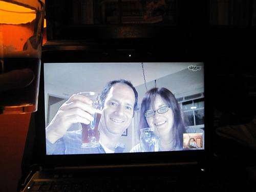 We toasted and tasted it together via Skype. Delicious!