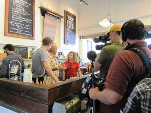 Portland shoot for Andrew Zimmern's Bizarre Foods last summer, airs next Monday night!