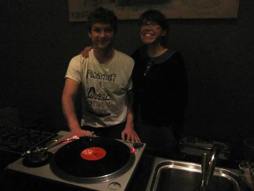 DJ Pickle Barrel and one of Portland Fermentation Festival's best, best friends -- Ecotrust's Lola Milholland.