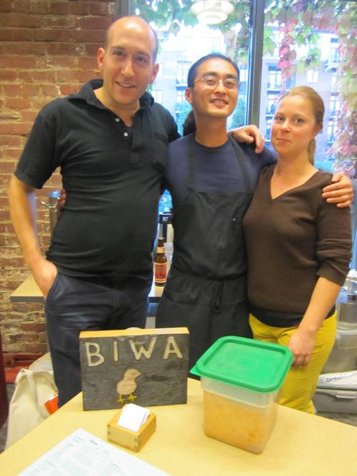 Perennial festival faves the Biwa crew with their housemade miso. So good.