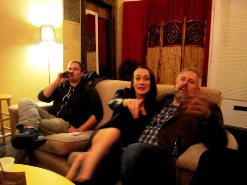 Josh, Renee and John in the green room for Live Wire! Episode 231.