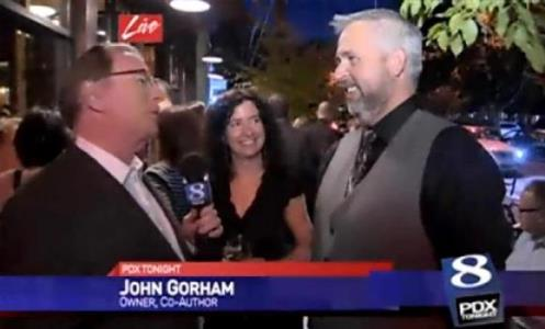 John and I on KGW news at the Toro Bravo cookbook launch party mid-October.
