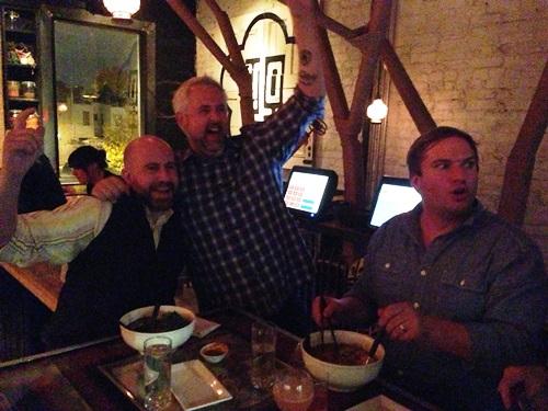 Laaaaater that night Waffle, John and Josh at Toki Underground. Loved it so much!