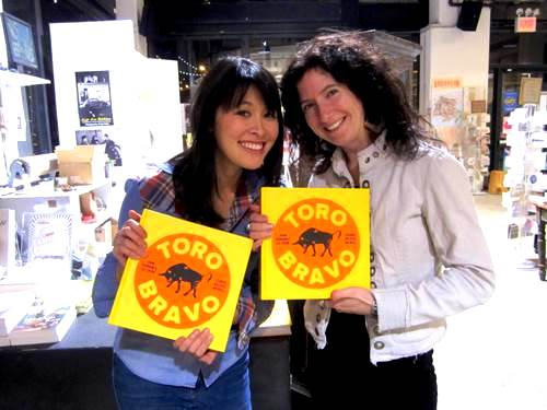Rachel and me with the bullseye of a book!