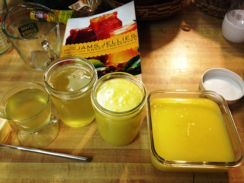 I used the juice of those lemons for lemon curd and lemon syrup from Linda's Ziedrich's book.