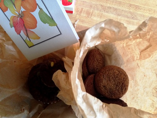 Molasses cookies and other sweet sweets from her as well.