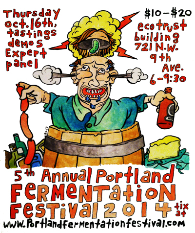 Tim Root's sweeeeeet ass poster for this year's Portland Fermentation Festival