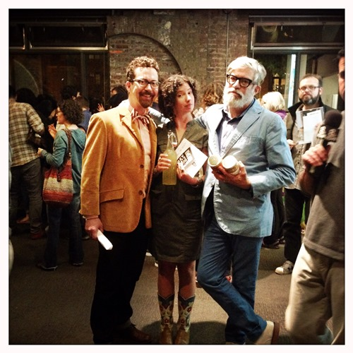 The dapper foodists -- ferment fest co-organizers George Winborn, Liz Crain and David Barber.