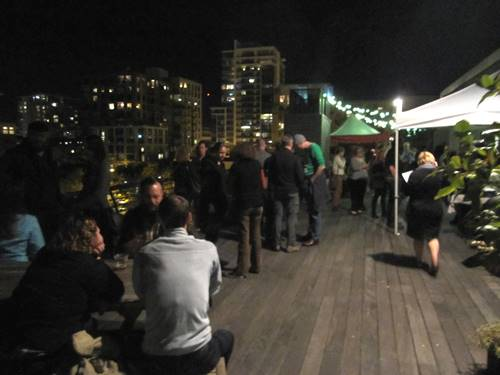 It was a beautiful night and on the rooftop we had food and drink from Bingo Sandwiches, Reverend Nat's Hard Cider and Commons Brewery and...