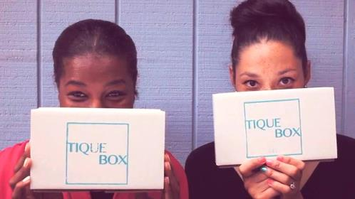 Inger (left) and Paige with their Tique Boxes.