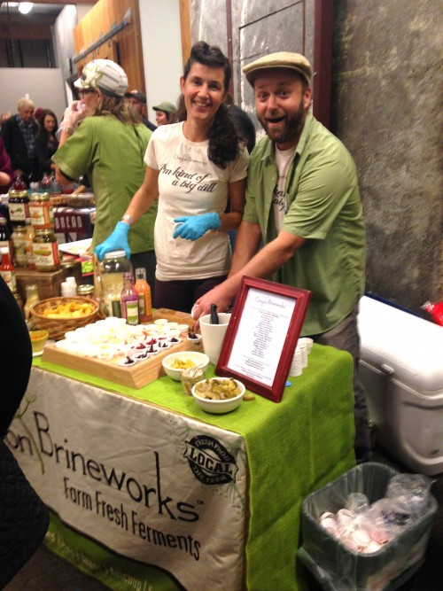 Cuties Connie and Brian Shaw from Hood River's Oregon Brineworks brought an incredible spread just as they did last year.