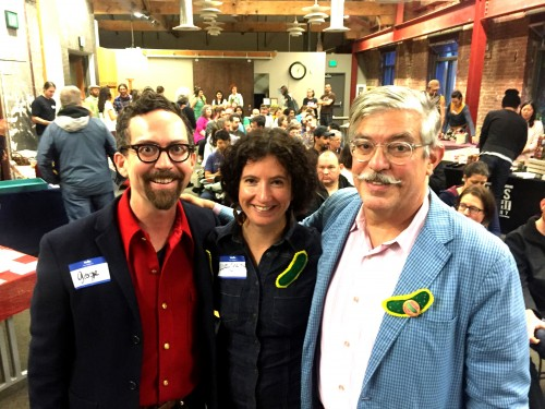 The Dapper Foodists -- Portland Fermentation Fest co-organizers George Winborn, me and David Barber right before the Panel of Fermentation Experts.
