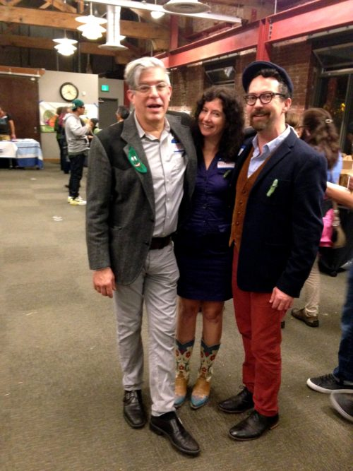 Portland Fermentation Festival co-organizers left to right: David Barber, me, George Winborn. We love you!