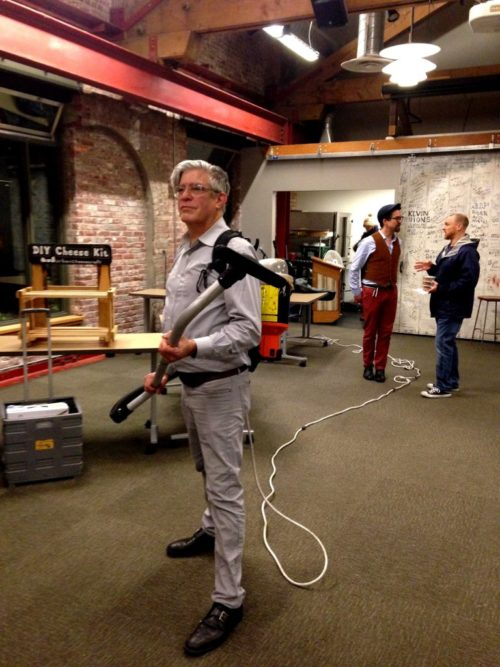 I always end these posts with a photo of festival co-organizer George Winborn (in the background) in the jetpack vacuum cleaner but this year David got the honor ;)
