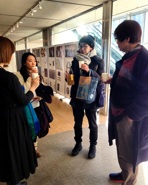 Kurosaki-san, Etsuyo, Mai and I trying Kantaro's kombucha before my talk.