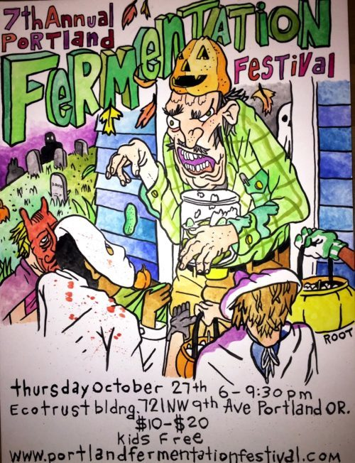 Tim Root's incredible festival poster this year! We're so lucky that he continues to do our poster year after year. So creeeeeepy awesome.