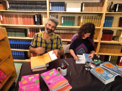 I'm so lucky!! Me and Sandor signing books after his full house book event at Powell's for the 2nd edition of Wild Fermentation. Wild Fermentation is the book that's had the biggest and most positive impact on my life. Photo by Dane Fredericks of Powell's Books.