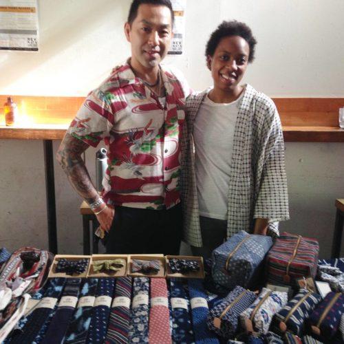Katsu Tanaka and Oleya of Kiriko Made. Their fabrics are incredibly beautiful. Can't wait to get some.