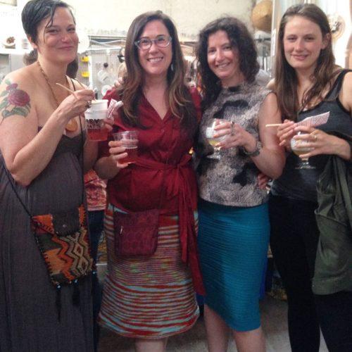 Sarah Hart, Rhonda Hughes, me and Dory Athey. Good times were had.
