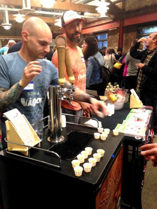 SOMA brought all sorts of tasty kombuchas this year. Love that they had kombucha taps to serve from.