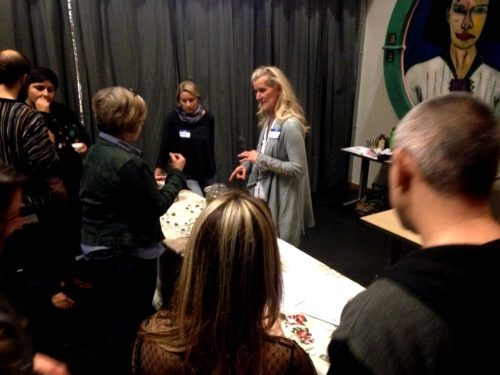 Tina Johnson giving her super informative demo all about fermenting and curing olives.