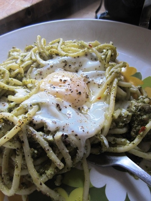 I always look forward to hazelnut arugula pesto...