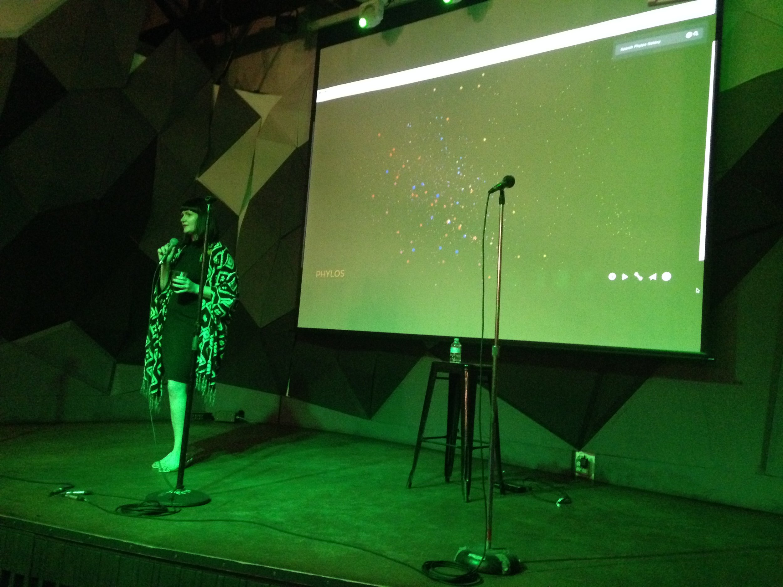 Smart and inspiring Carolyn White of  Phylos Bioscience  gave the second talk of the night all about her work and Phylos' work mapping the cannabis genome.