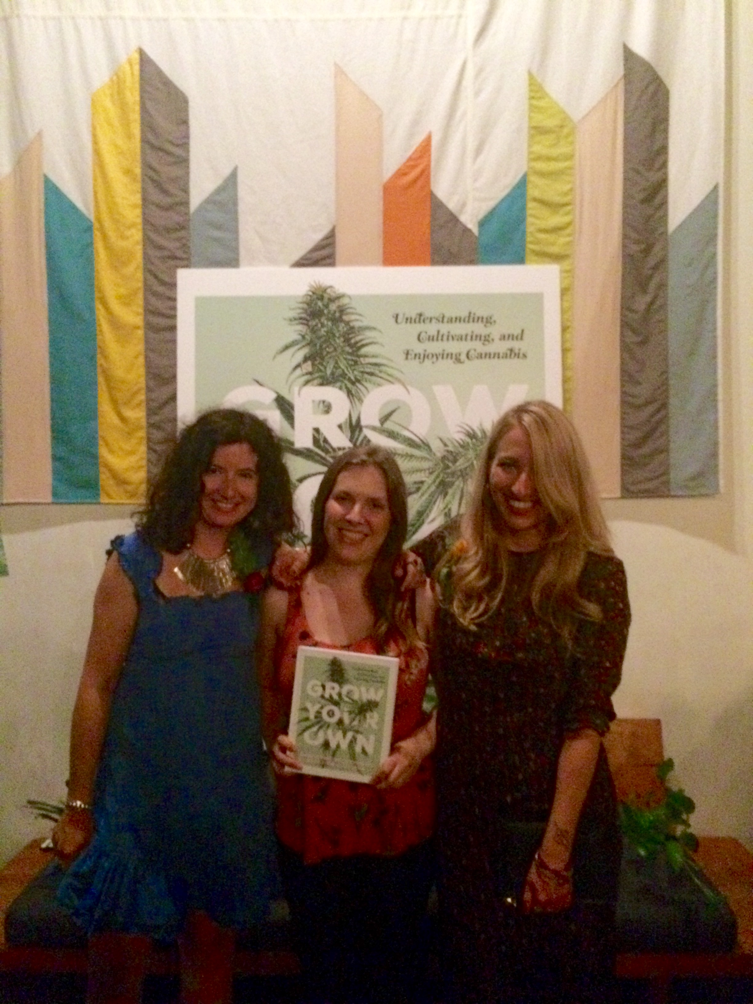 Me, Sabrina and Nichole. The three of us worked for weeks to make this awesome  Grow Your Own  launch party happen. Couldn't be happier with the end result.