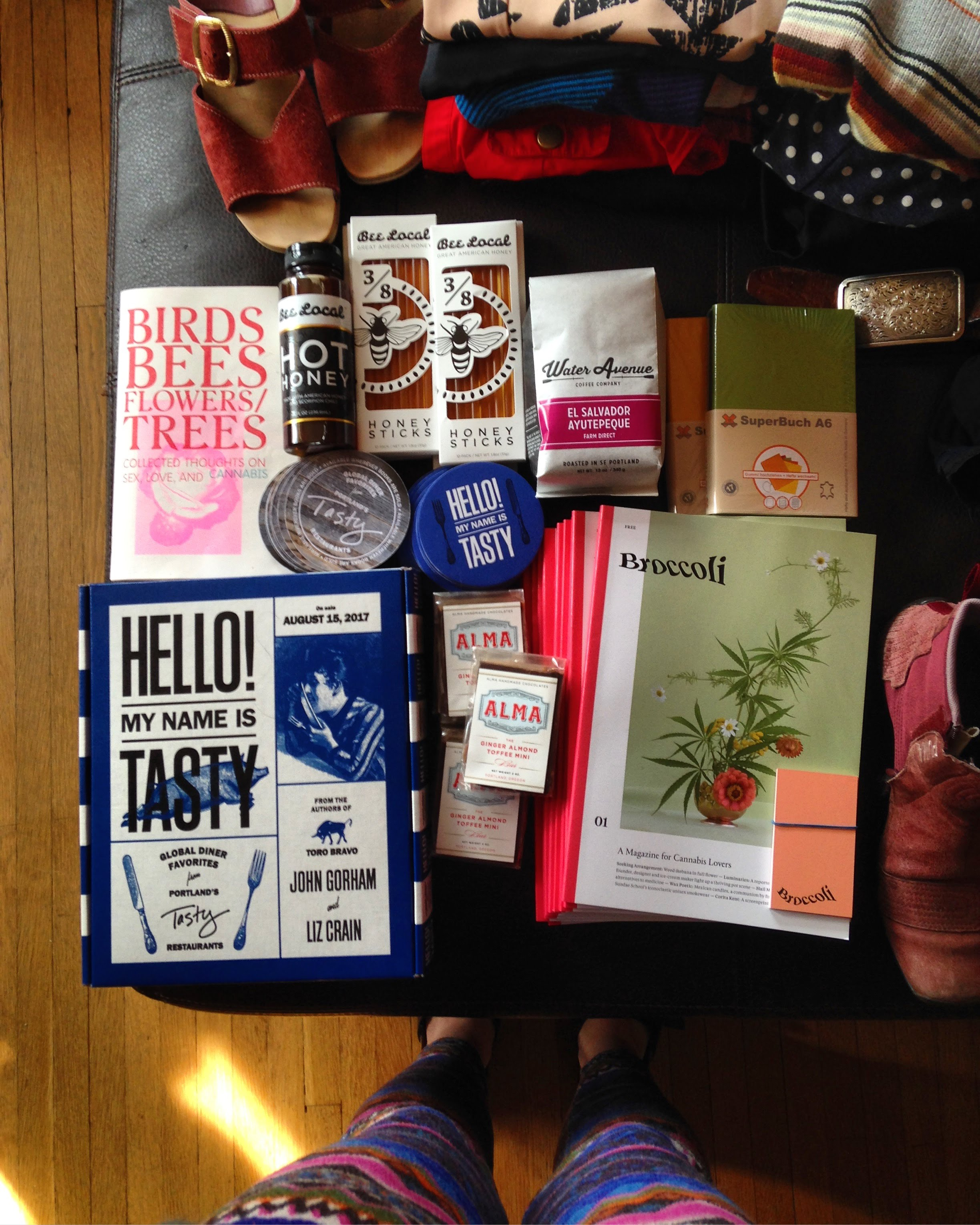 My suitcase to Tokyo was half-filled with gifts for lovely F3 folks this year -- most of which I brought with me on day two. All sorts of Portland goodies!