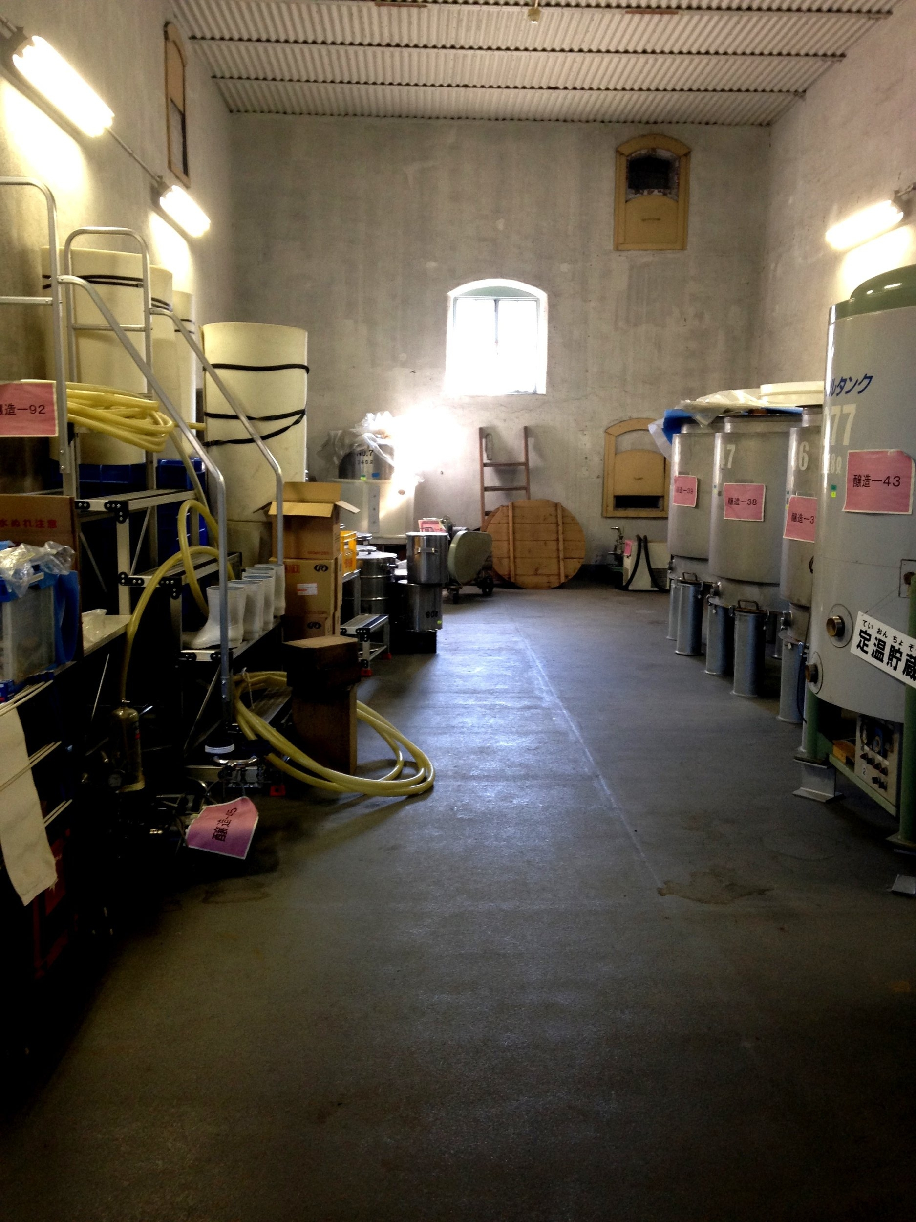 We snooped around the old sake brewery a little. No longer in production but still a lot of great equipment.