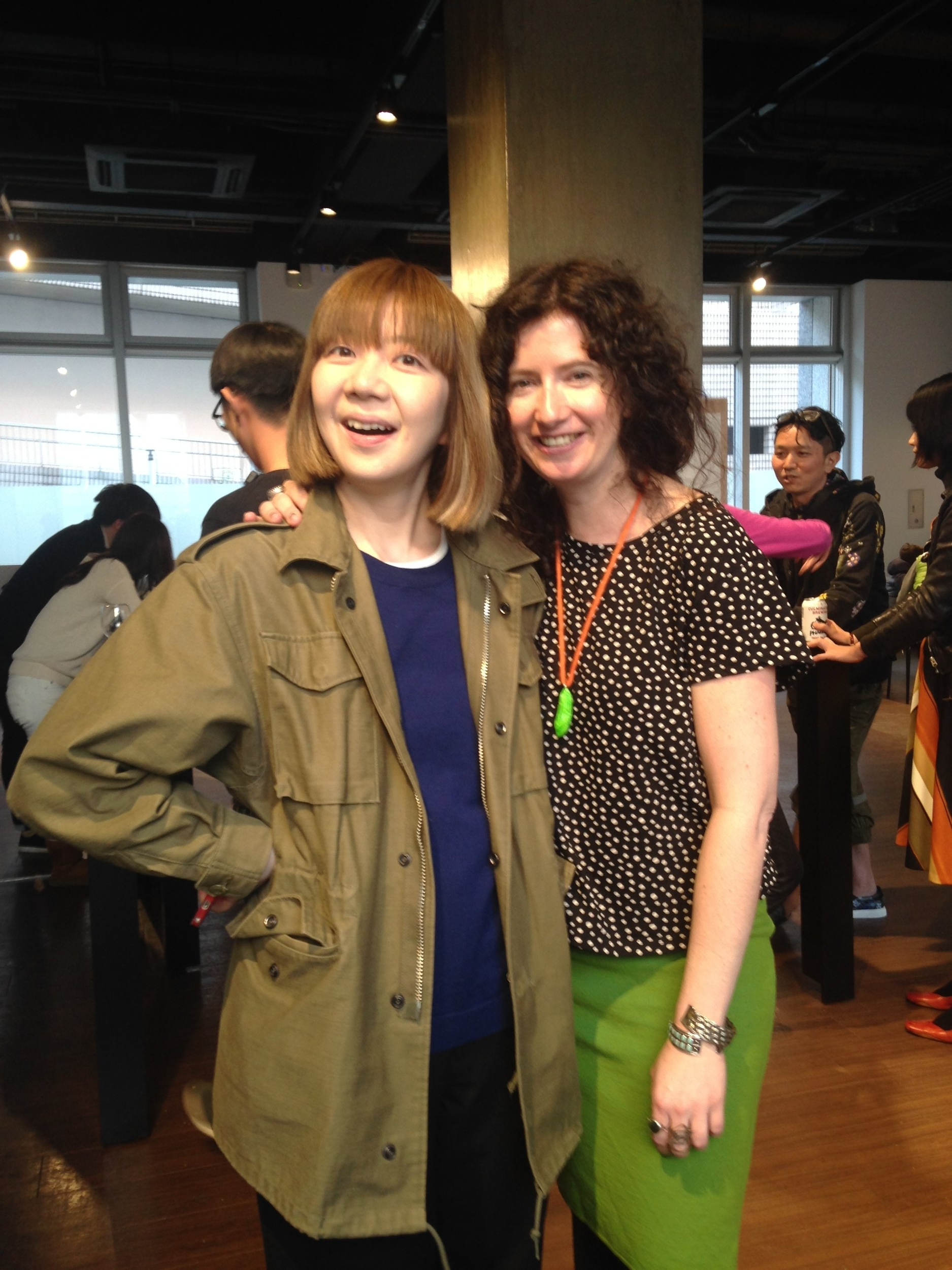 Me and my friend Etsuyo Okajima after our Q&A. I love Etsuyo. She comes to Portland often.
