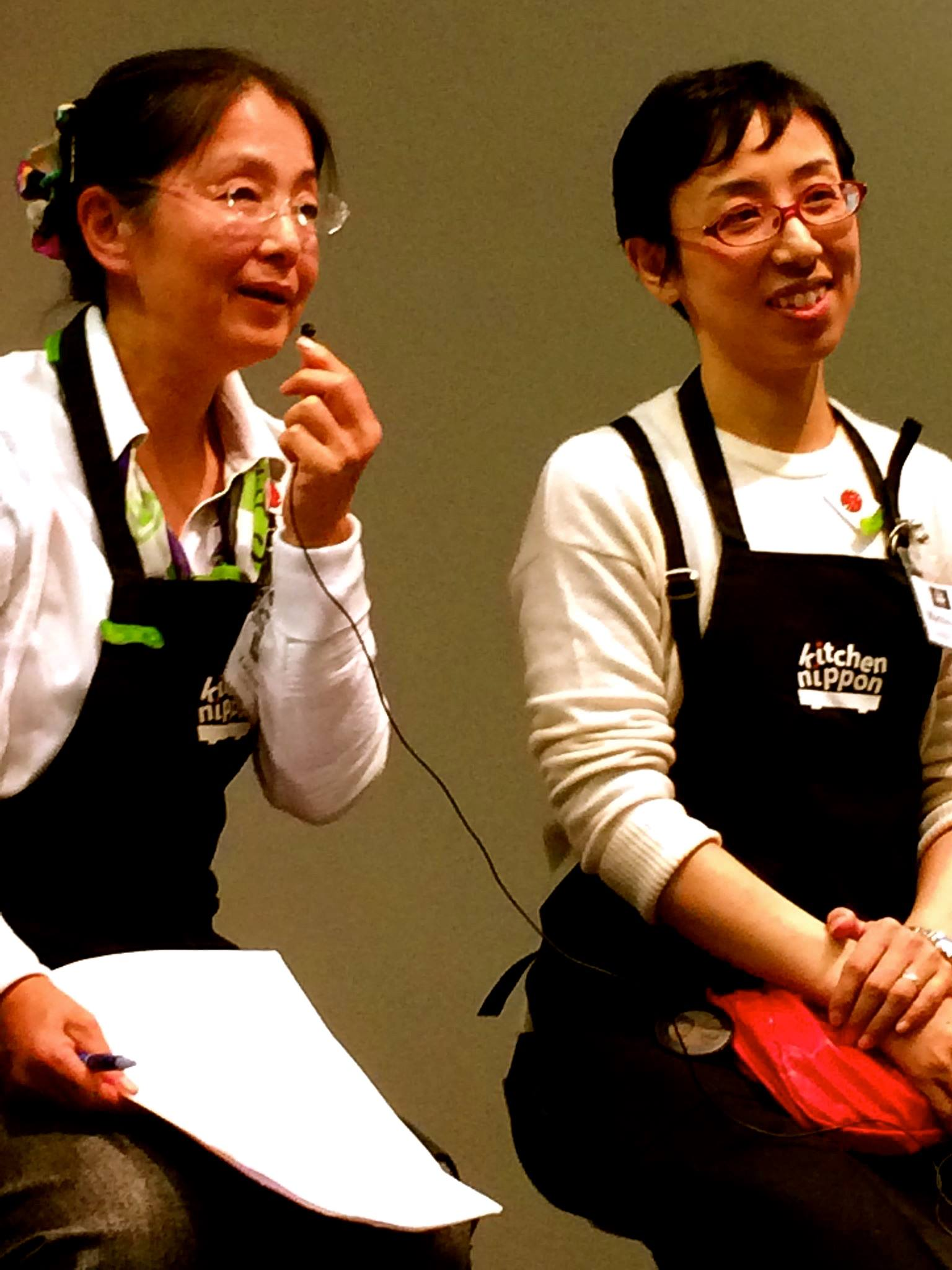 Kaoru Shibata (left) and Machiko Tateno (right) of Kitchen Nippon Tokyo during the panel. Photo by Earnest Migaki.