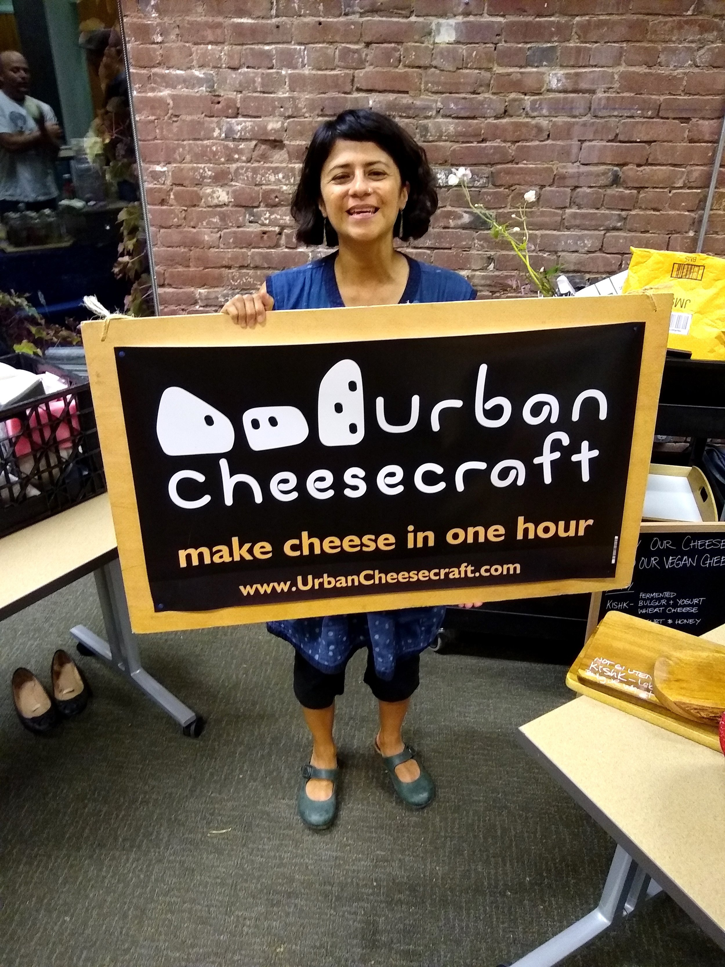 Here's cutest Claudia inside the tasting room at her booth.