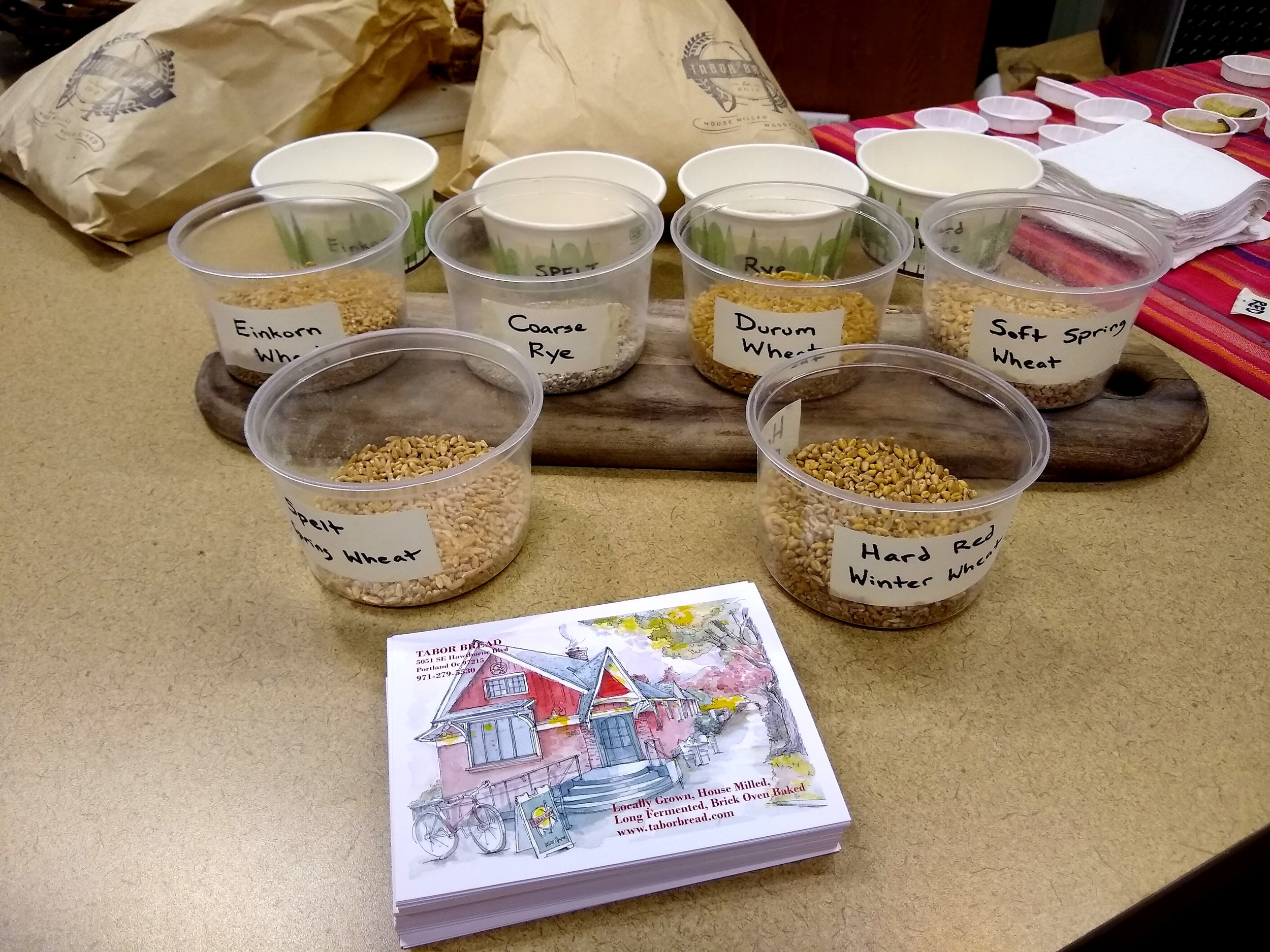 Tabor Bread grains!