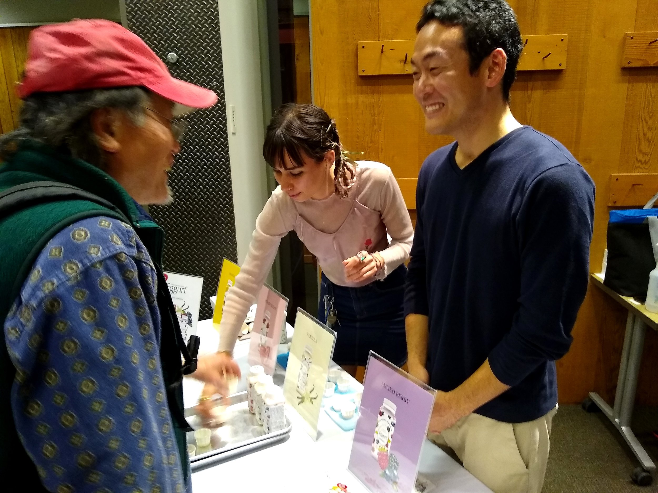 I never got to try Shun Ishida's Eggurt yogurt drink that he brought to the festival but I'm looking forward to trying it soon! It went fast. I love that when you come to our festival you get to talk to so many of the makers themselves. A rare treat.