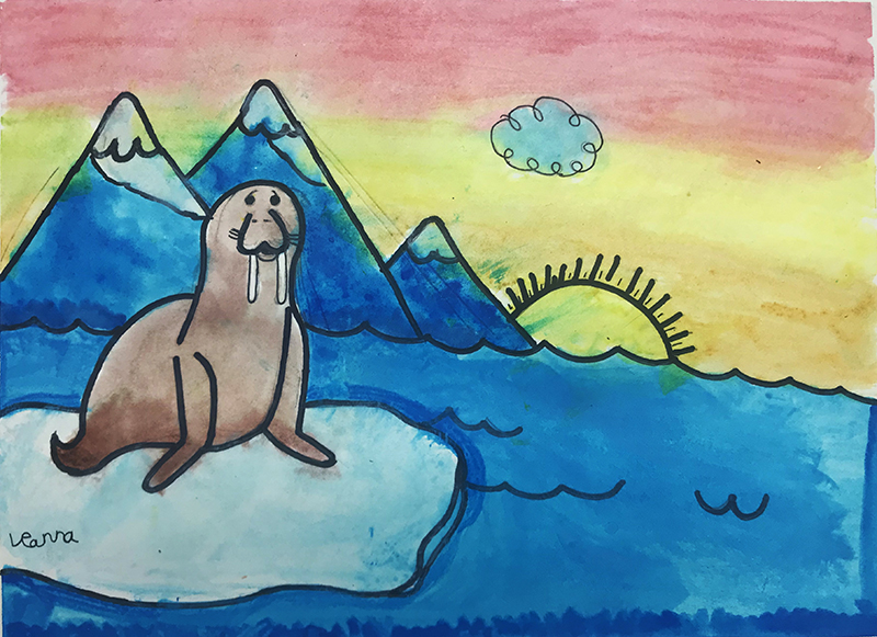 Walrus by Leanna, age 6