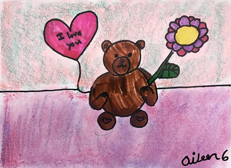 Teddy Bear by Aileen, age 6