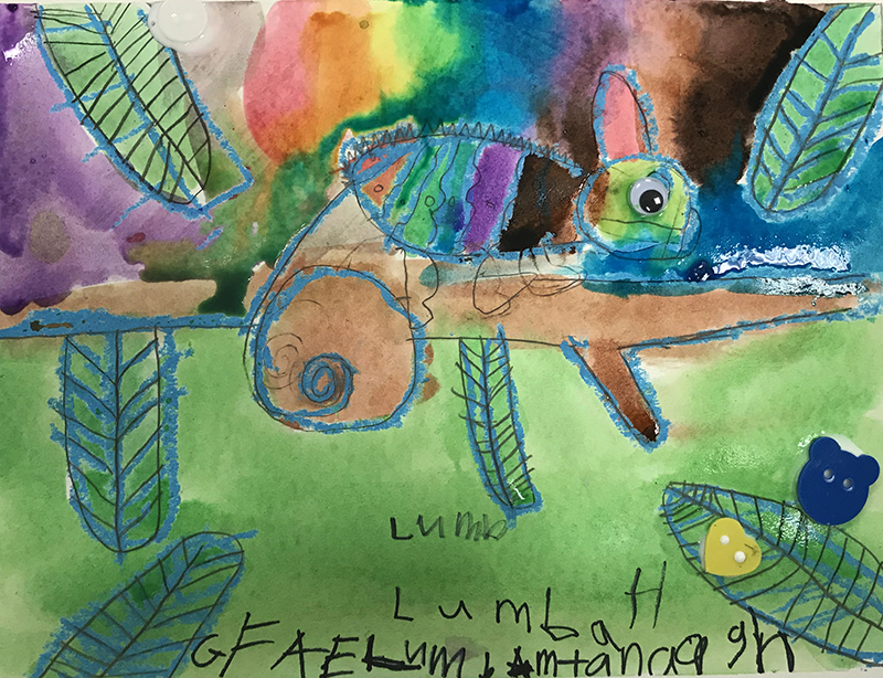 Chameleon by Lumba, age 6