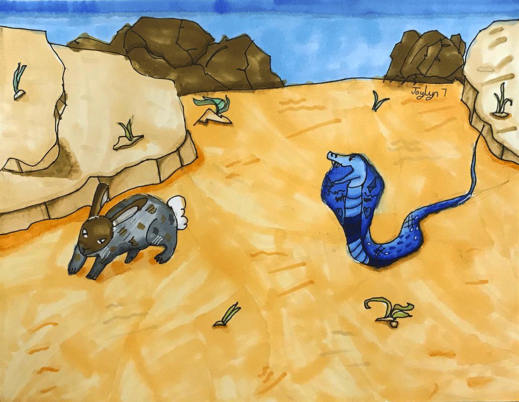 Cobra and Bunny by Joylyn, age 7